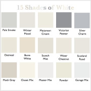 15 shades of white http://countrydesignstyle.com