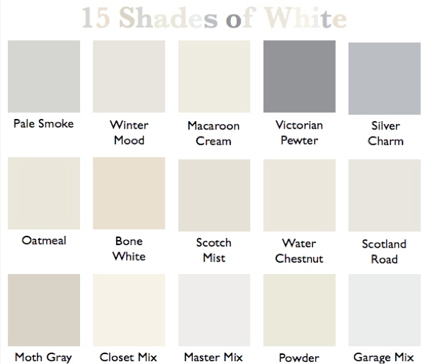 15 shades of white country design style