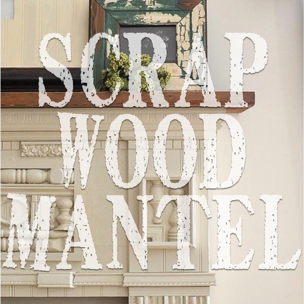 scrap wood mantel http://countrydesignstyle.com #diy #fireplace #mantel