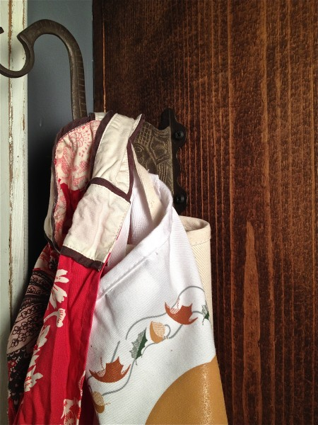 aprons in the pantry