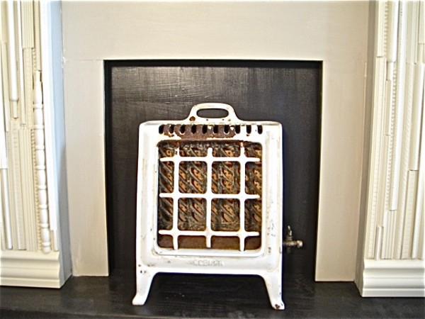 heater set in mantle