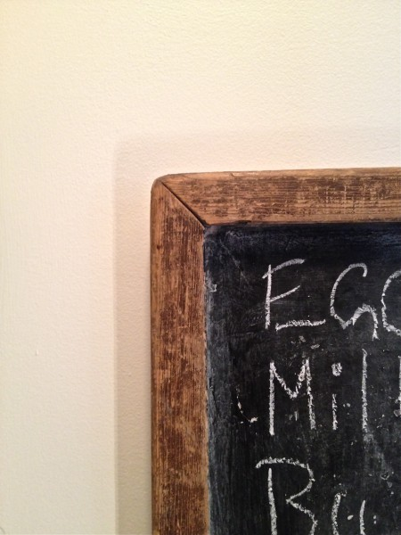 chalkboard in the pantry