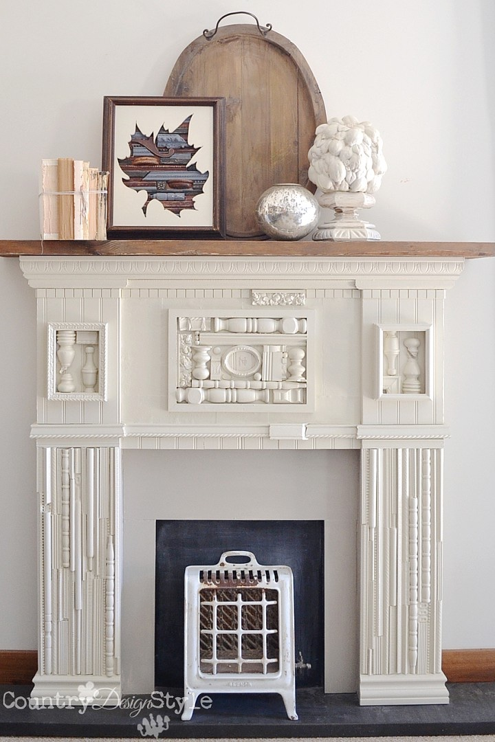 mantel made the scrap wood pieces