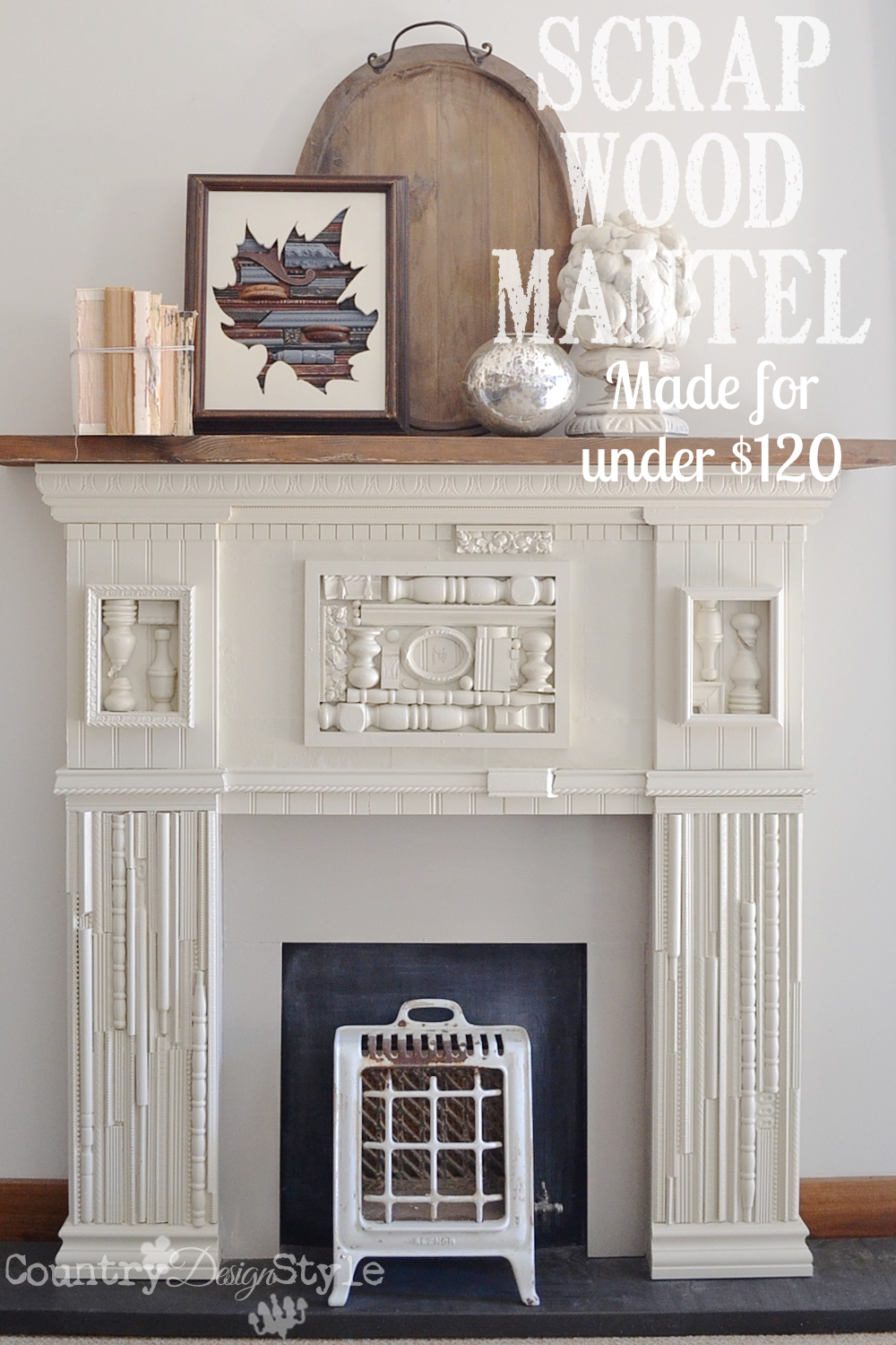 scrap wood mantel country design style