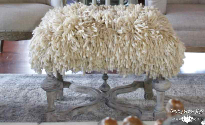shaggy-ottoman   Country Design Style   countrydesignstyle.com