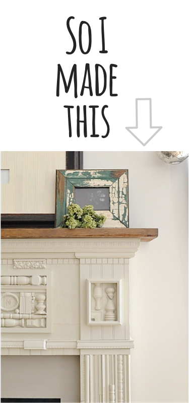 so I made this http://countrydesignstyle.com #mantel #fireplace #diy