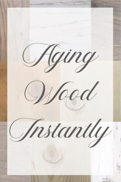 Aging Wood Instantly