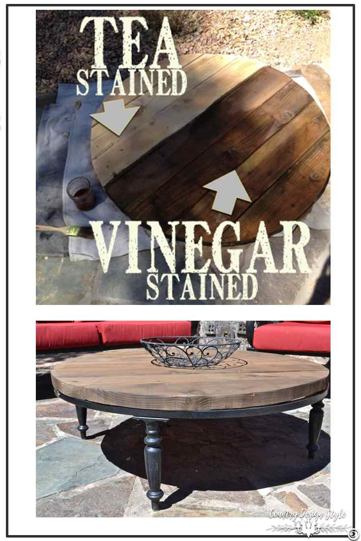 Aging wood to barn wood tabletop | Country Design Style | countrydesignstyle.com