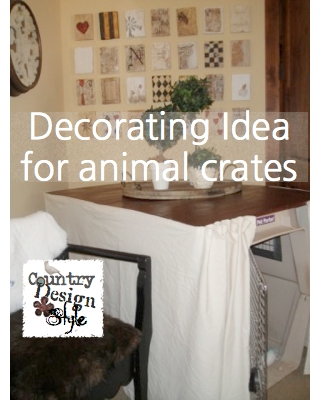 Cheap decorating idea for animal crates