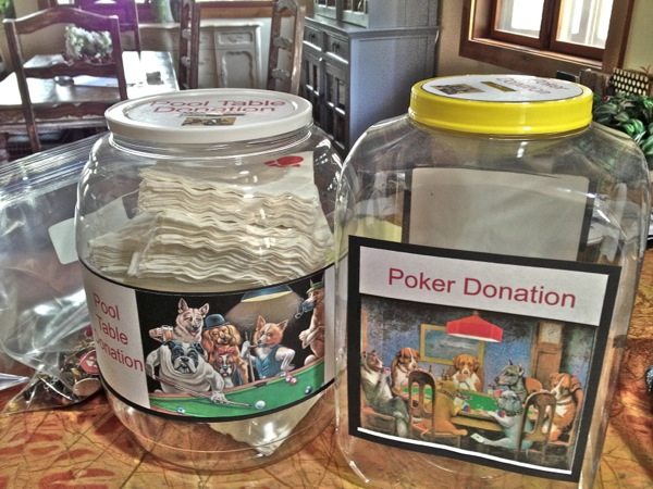 Humane Society donation jar