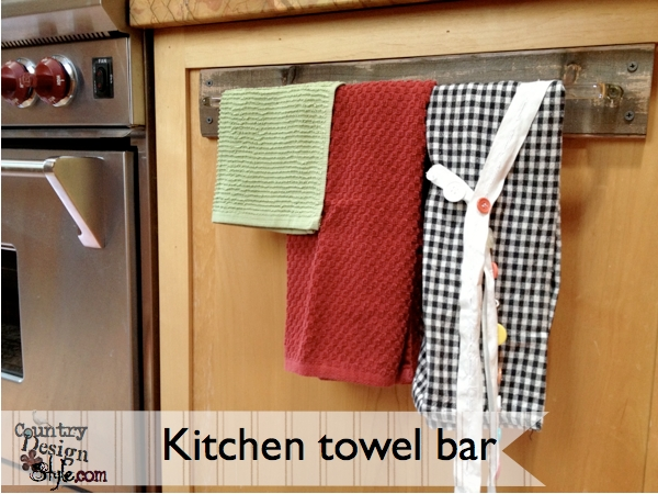 My old kitchen towel bar