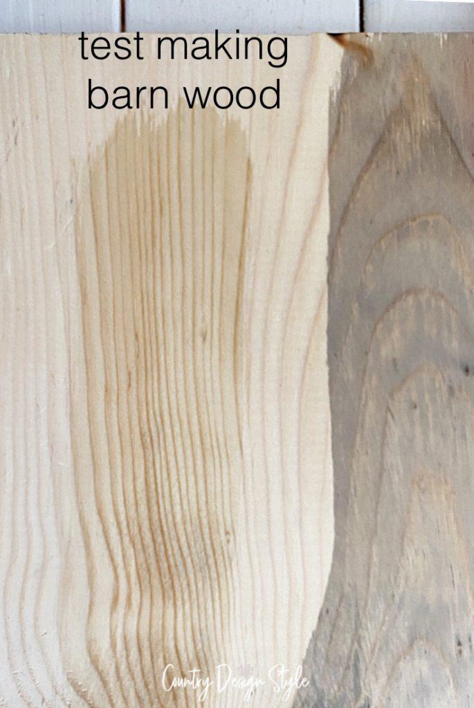 solution still wet on wood