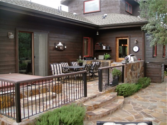 Back porch with furniture