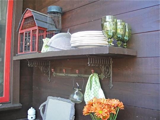 Cabin Back Porch After shelf