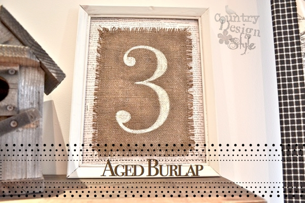 Aged Burlap FP Country Design Style
