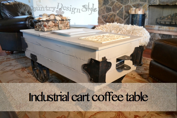 Industrial Cart Coffee Table. Industrial Cart FP Country Design Style