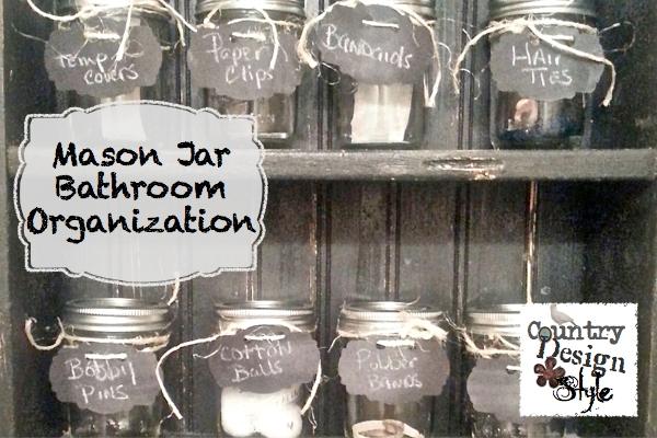 Mason Jar Bathroom Organizer. Make A Mason Jar Organizer With ...