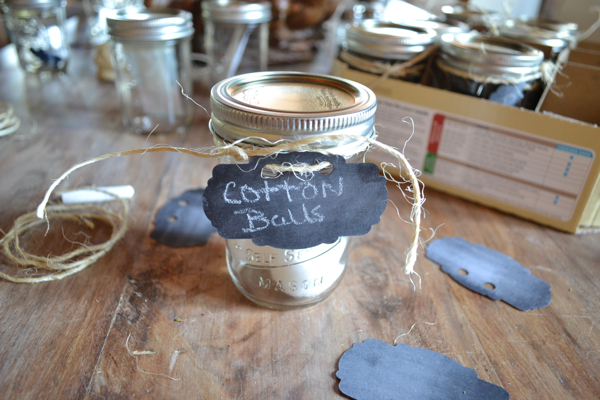 Mason Jar bathroom Organization Country Design Style-2