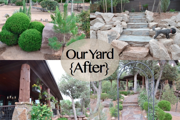 Our yard after insta country design style