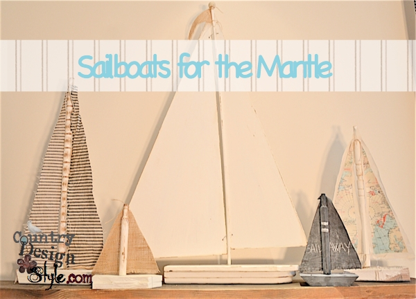 Sailboats for the Mantle Country Design Style FP