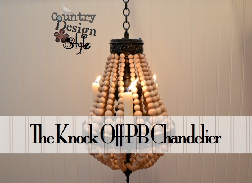 The Knock Off PB Chandelier