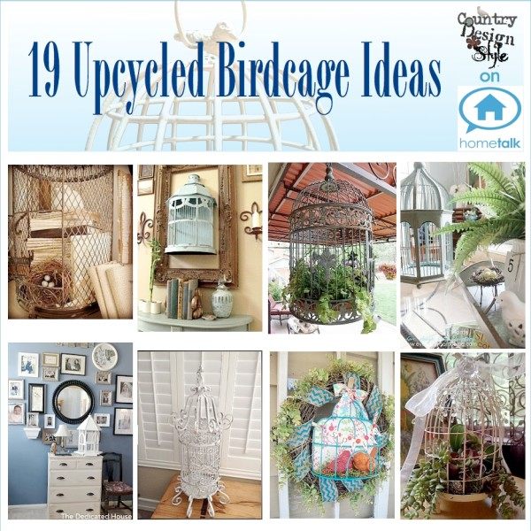 19 Upcycled Birdcage Graphics Country Design Style