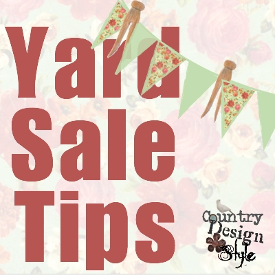 Yard Sale Tips Country Design Style SQ