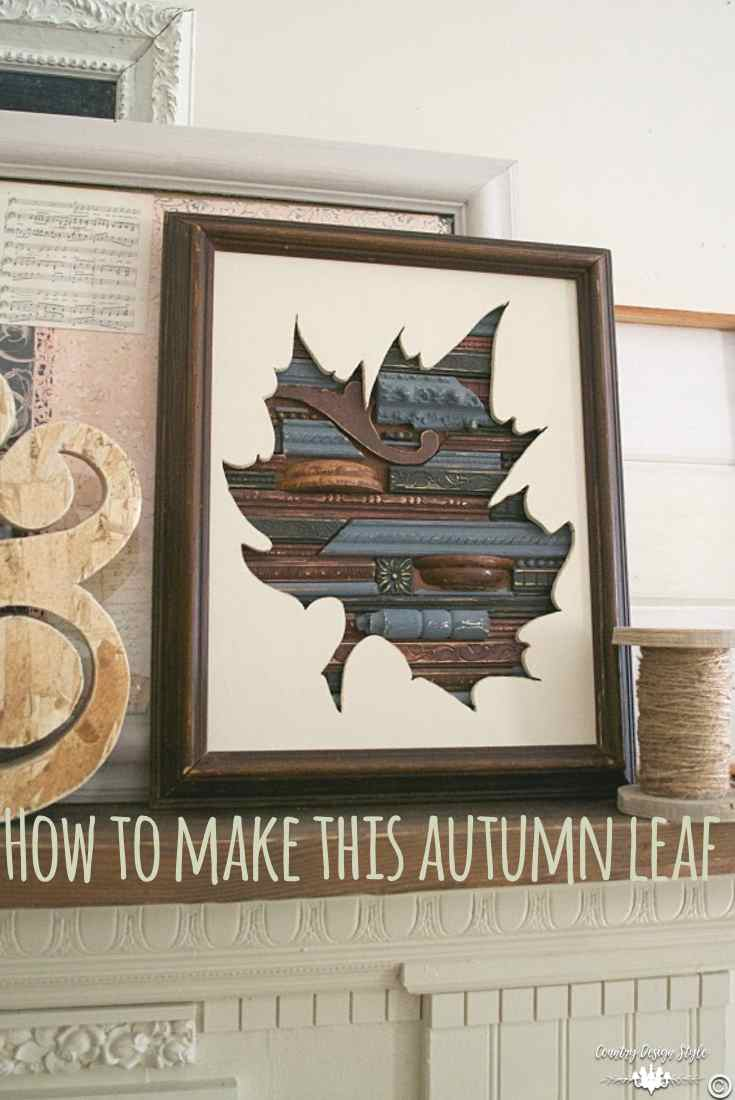 Autumn leaf art pin | Country Design Style | countrydesignstyle.com