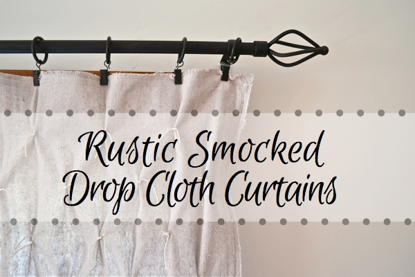 Rustic Smocked Drop Cloth curtains FP