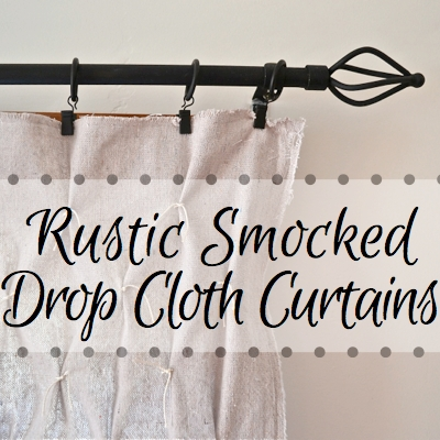 Need Inexpensive Curtains Try Drop Cloth For Add Smocking To Take The
