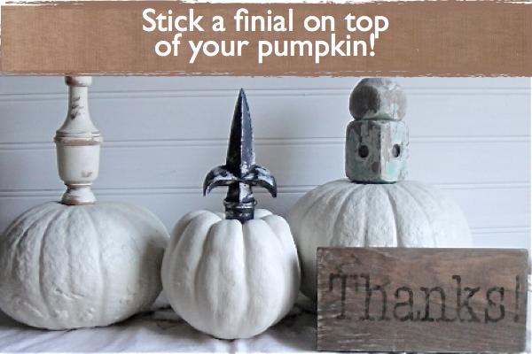Finial Stem Pumpkins