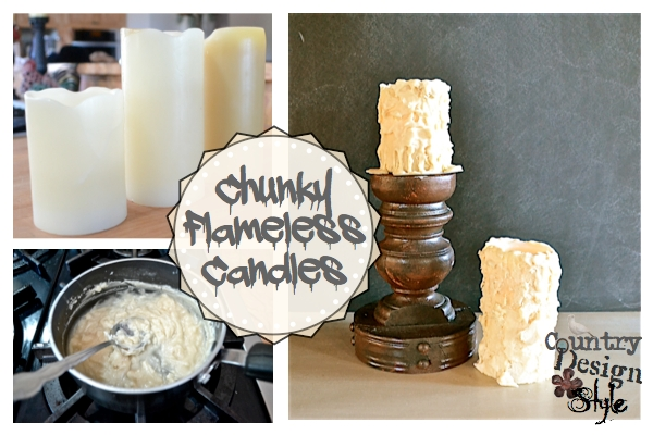 Chunky Flameless Candles