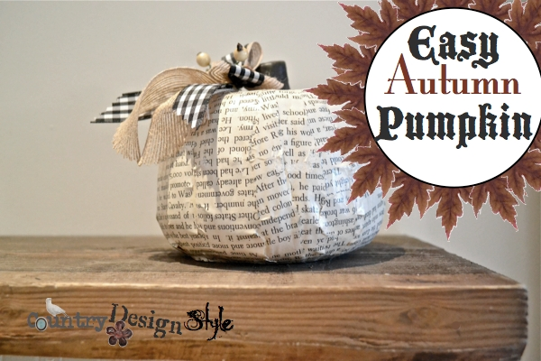 Easy Autumn Pumpkin FP