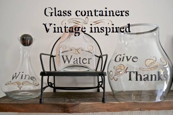 Glass containers Vintage inspired