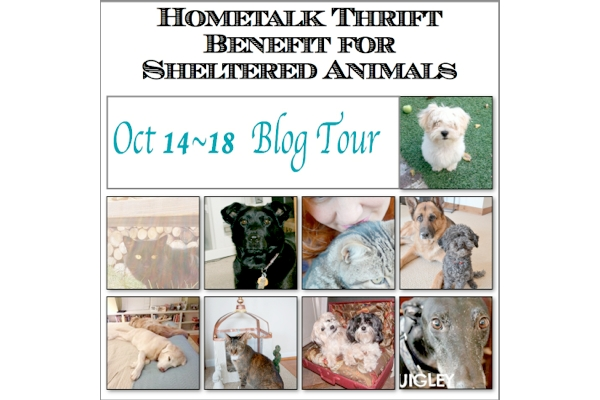Hometalk Thrift Benefit for Sheltered Animals Blog Tour