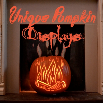 Unique Pumpkin Displays SQ Country Design Style