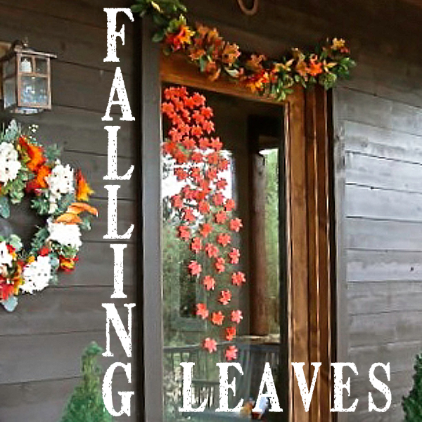 dollar store leaves https://countrydesignstyle.com #autumn #fall #leaves
