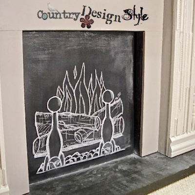Chalk Fire | Country Design Style | countrydesignstyle.com