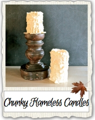 Chunky Flameless Candle Link Pix