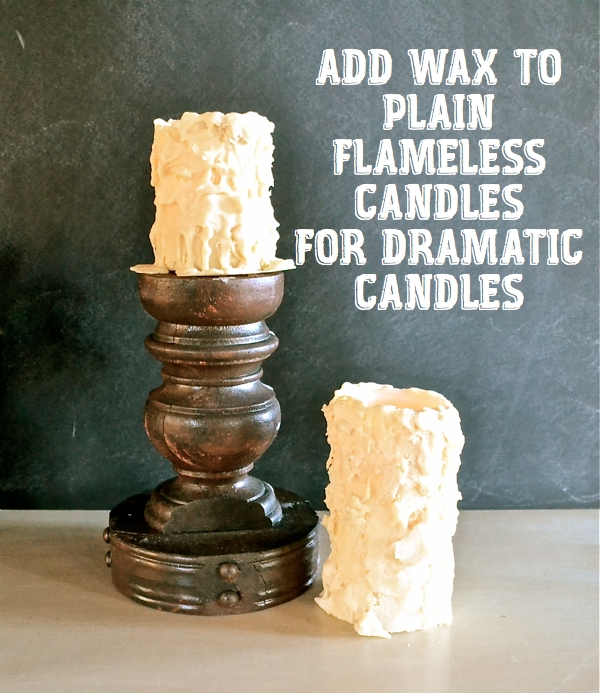 Chunky Flameless Candles Top