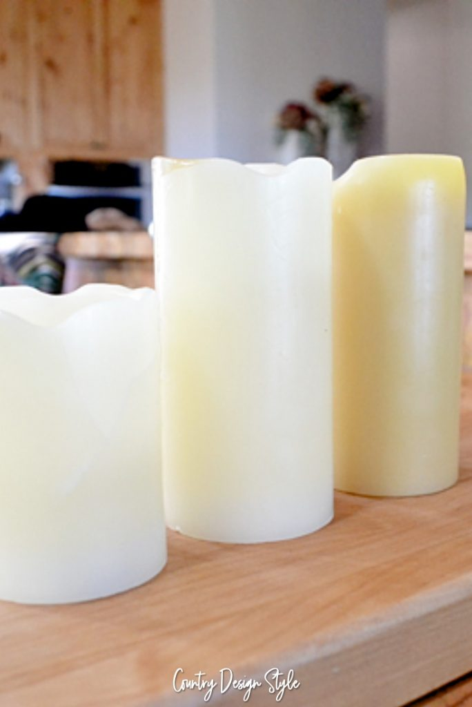 Chunky flameless candles DIY