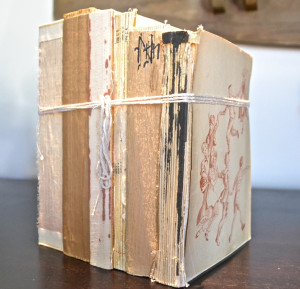 Old Book Bundles Country Design Style