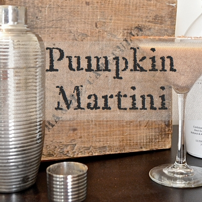 How I make a pumpkin martini Country Design Style