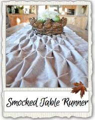 Smocked Table Runner Link Pix