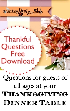 Thankful Questions Country Design Style