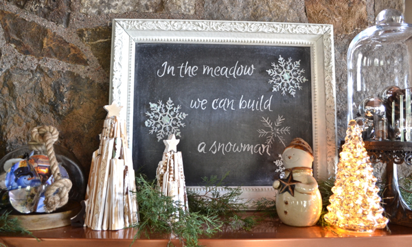 12 Days of Christmas Mantel right side