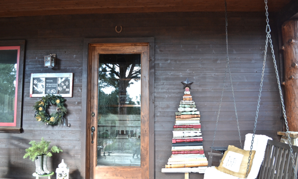 12 Days of Christmas rustic front porch