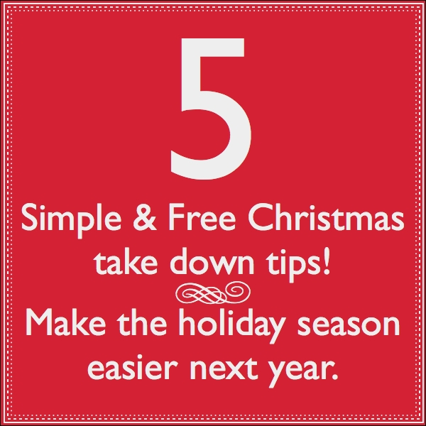 5 Christmas take down tips SQ