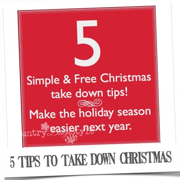 5 Christmas take down tips