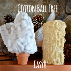 Cotton Ball Christmas Tree FP